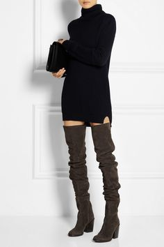 Haider Ackermann | Suede over-the-knee boots |