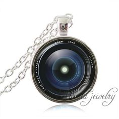 vintage glass dome camera lens necklaces