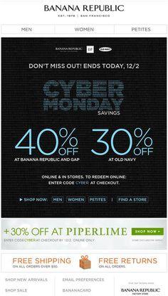 686e0571a Banana Republic - Cyber Monday discounts at 3 brands (BR