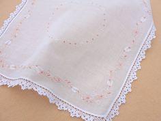 crochet linen handkerchief , pinterest - Pesquisa Google