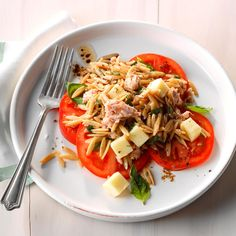 Stuffed tomatoes provide endless options when you add meat, cheese, rice, veggies – or in this case, orzo. — Jenni Dise, Phoenix, Arizona