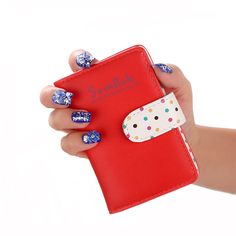 New 2017 Cute Strap Buckle PU Leather Women Credit Card Holder, Designer ID Card Wallet Fashion Business Card Cover+20 Card Slot