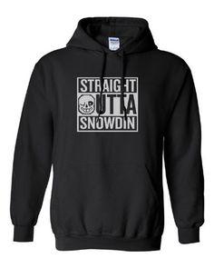 Undertale Sans Straight outta Snowdin Compton Parody Hoodie Hooded Sweat shirt Sweatshirt - Animetee - 1
