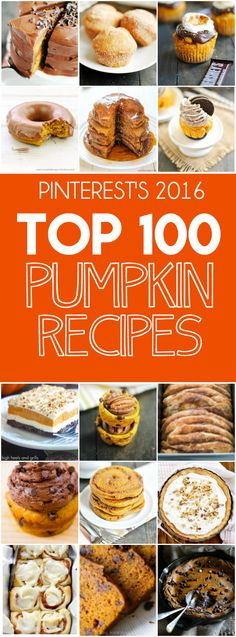 Top 100 Pumpkin Recipes on Pinterest in 2016 http://www.somethingswanky.com/pinterests-best-pumpkin-recipes-in-2016/?utm_campaign=coschedule&utm_source=pinterest&utm_medium=Something%20Swanky&utm_content=Top%20100%20Pumpkin%20Recipes%20on%20Pinterest%20in%202016