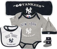 New York Yankees Newborn Navy 5 Piece Hanger Gift Set $0.00 http://www.fansedge.com/New-York-Yankees-Newborn-Navy-5-Piece-Hanger-Gift-Set-_-1608404750_PD.html?social=pinterest_pfid63-16560
