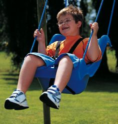 A comfortable supported swing seat for a thrilling ride.  This body-hugging swing gives all children the enjoyment of a swing whilst keeping them safe and secure. The seat incorporates a pommel and safety harness with snap buckles.  http://blossomforchildren.co.uk/outdoors/246-full-support-swing-seat-child.html  http://blossomforchildren.co.uk/outdoors/247-full-support-swing-seat-teen.html