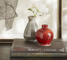 "Eclectic Ceramic Bud Vases, Set of 2 #potterybarn Small: 4"" diameter, 4.5"" high Large: 4"" diameter, 7"" high Set of 2. $33"