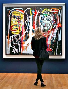 by BASQUIAT - two observations from my years of hanging around art galleries…