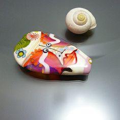 Melanie Moertel Lampwork Beads - handmade glass focal (it's a face!). More of her work on www.melaniemoertel.com