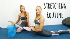 Leg Flexibility Stretch Routine! | The Rybka Twins