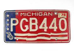 1976 Michigan License Plate