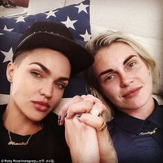 Keeping her on a tight string: Ruby Rose has revealed her fiance, Phoebe Dahl has given he...