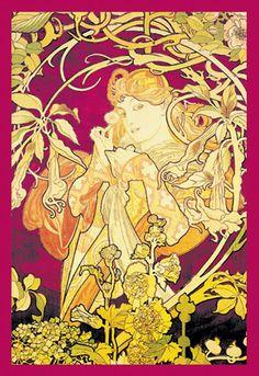 Ivy, by Alphonse Mucha