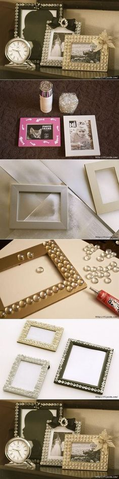 DIY Glamorous Picture Frame DIY Projects DIY.