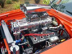 "Mopar Hemi-Head ""RB"" - '528' - Supercharged with 2x4 Carburetors."