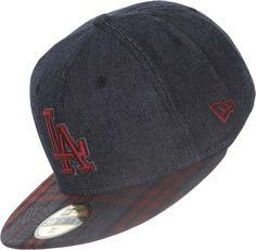 New Era 59FIFTY Plaid Denim LA Dodgers Mens Fitted Cap - 7 3 8 ( 3d8f4b059b4e