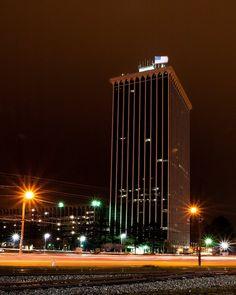 Clark Tower at night