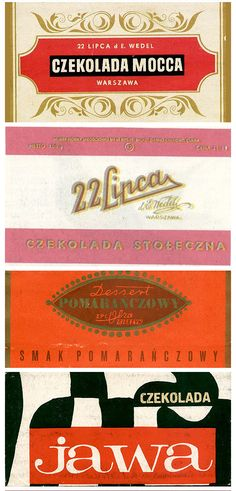 sweet nostalgia - old Polish chocolates