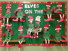 Super Ideas For Door Decorations Classroom Toddlers Bulletin Boards December Bulletin Boards, Christmas Bulletin Boards, Christmas Classroom Door, Office Christmas Decorations, Preschool Christmas, Christmas Activities, Christmas Crafts For Kids, Xmas Crafts, Christmas Elf