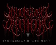 INDONESIAN DEATH METAL (Font Logo)