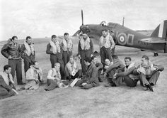 Hurricane and pilots of 310 Squadron