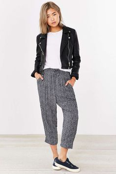 Ecote Mono Cropped Pant - Urban Outfitters