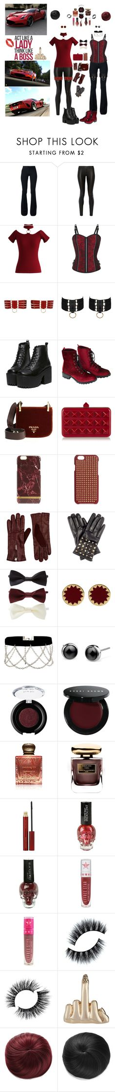 """""""Tonight We're Going Hard"""" by blackmagicmomma ❤ liked on Polyvore featuring Ferrari, Derek Lam, The Row, Chicwish, Bordelle, Wet Seal, Prada, Valentino, Richmond & Finch and The Case Factory"""