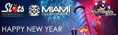 Enjoy #NYE2018 with a 100% up to $100 #slot bonus plus 25 #freespins on the Triple 10X Wild slot at Miami Club #casino when you deposit a min. $50 with code:  COUNTDOWN - https://www.freeslotmoney.com/miami-club
