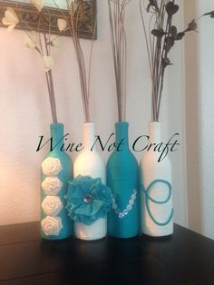 Custom wine bottle Love set #winebottlecraft $40