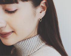 Geometric Hoop Earrings  | K18 - cui-cui[キュイキュイ]