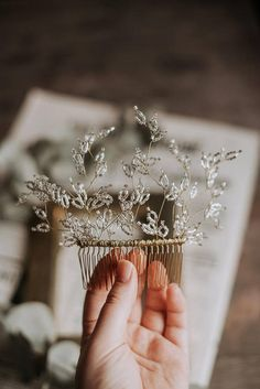 Crystal Wedding Hair Comb, Bridal Crystal Twig, Bridal Crystal Comb, Wedding Hair Piece, Delicate Hair Comb, Hair Jewelry, Bridal Adornment, Silver Hair Pins, Bridal Headpiece, Hair Jewelry, Crystal Hair Comb, Bridal Jewelry