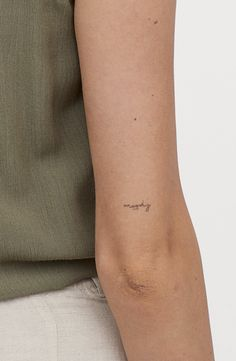 mini tattoos with meaning & mini tattoos ; mini tattoos with meaning ; mini tattoos for girls with meaning ; mini tattoos with meaning for women Mini Tattoos, Elbow Tattoos, Back Tattoos, Finger Tattoos, One Word Tattoos, Tatoos, Hot Tattoos, Above Elbow Tattoo, Small Neck Tattoos