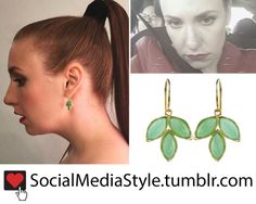 Buy Lena Dunham's Green Leaf Earrings, here!
