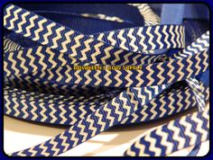 5 yards 3/8 Royal Blue & White Patriotic USA by BowneensBowSupply, $2.99