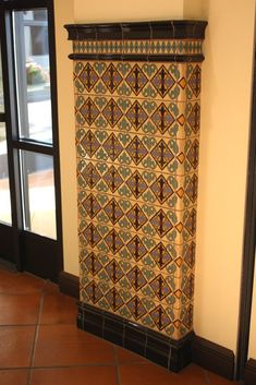 Ceramic Tiled Column, Mexican Home Decor Gallery. Mission Accesories, Copper Sinks, Mirrors, Tables And More