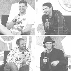 [gifset] Jensen, Jared, Misha, and Mark at #NerdHQ14 - This panel was so great.  They talked so much bullshit with each other that they barely got any questions answered.  LOL