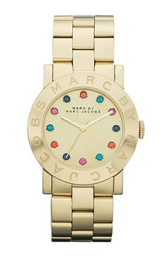 Marc by Marc Jacobs watch... pretty colors on the face, not too gold