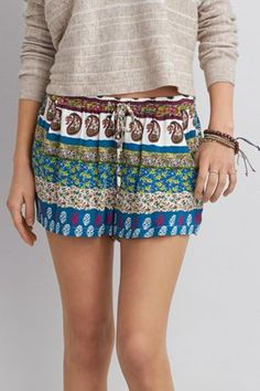 Shared Via ShopJester: Up your short game with a leg lengthening fit & soft, flowy fabric.  Shop the AEO Printed Soft Shortie from American Eagle Outfitters. Check out the entire American Eagle Outfitters website to find the best items to pair with the AEO Printed Soft Shortie.
