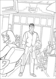 Dibujos para Colorear Superman 15