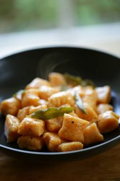A Delicious Sweet Potato Gnocchi Recipe With Brown Er Sage Sauce Great Fall Dinner