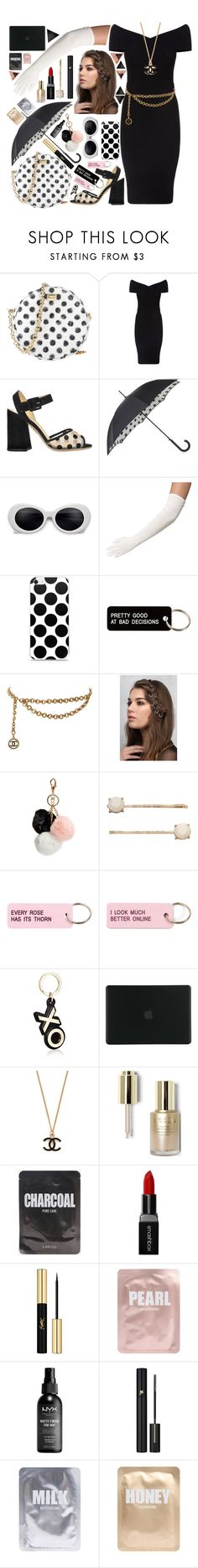 """""""Black and White Classy"""" by harrypotterlover12 ❤ liked on Polyvore featuring Dolce&Gabbana, Maje, Charlotte Olympia, Fulton, Various Projects, Chanel, Rare London, GUESS, LC Lauren Conrad and Barneys New York"""