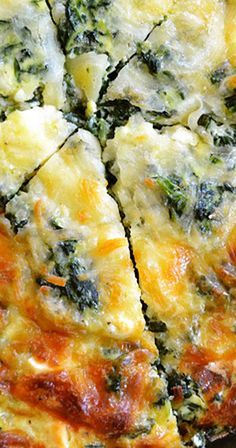 Spinach, Mushroom & Feta Crustless Quiche