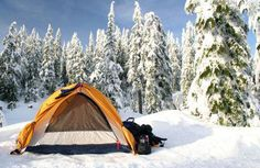 See how experienced campers dress for cold weather, and the winter camping gear . - See how experienced campers dress for cold weather, and the winter camping gear they prefer. Winter Camping Gear, Snow Camping, Cold Weather Camping, Family Camping, Tent Camping, Outdoor Camping, Outdoor Gear, Hiking Gear, Backpacking Gear