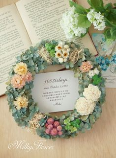 Dried Flower Wreaths, Dried Flowers, Wreaths For Front Door, Door Wreaths, Flower Decorations, Floral Wreath, Concept, Embroidered Flowers, Flower Preservation