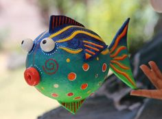 Paper Mache Fish. No idea how it's made but it's certainly adorable.