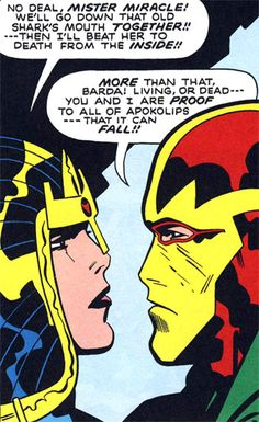 Big Barda & Mister Miracle by Jack Kirby