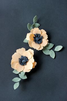 DIY Felt Flowers Details Clip Tutorial