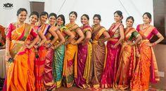 South Indian bride. Temple jewelry. Kanchipuram silk sari.Braid with fresh flowers. Tamil bride. Telugu bride. Kannada bride. Hindu bride. Malayalee bride.: