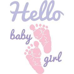 Silhouette Design Store - View Design #29330: hello baby girl
