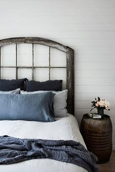 Love this rustic and charming farmhouse-inspired hotel bedroom at the Mornington Peninsula Hotel, Australia. Read more about the best restaurants, bars, wineries and beaches in Australia on Conde Nast Traveller. Farm Bedroom, Cozy Bedroom, Master Bedroom, Modern Bedroom Design, Modern Room, Peninsula Hotel, Kitchen New York, Hotel Interiors, Country Interiors